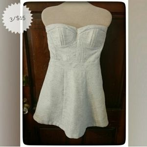 Jessica Simpson Cream Strapless Dress Sz 7 (not 8)